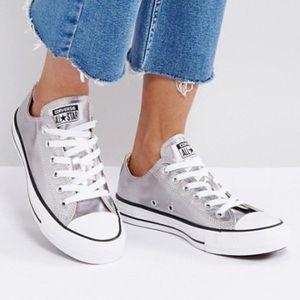 Converse Chuck Taylor Silver Metallic Ox Sneakers
